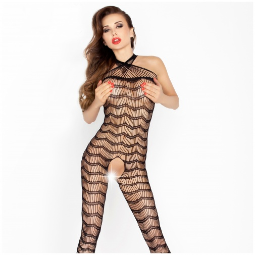 Čierny bodystocking BS022