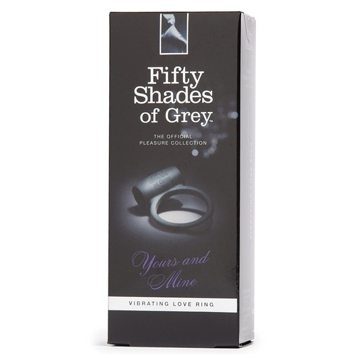 V balení erekčný krúžok Yours and Mine od značky Fifty Shades of Grey.