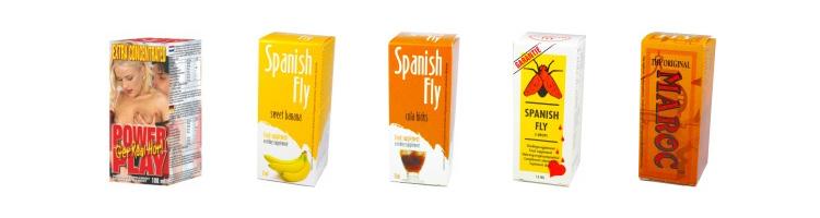 Kompletná ponuka španielskych mušiek v našom sexshope