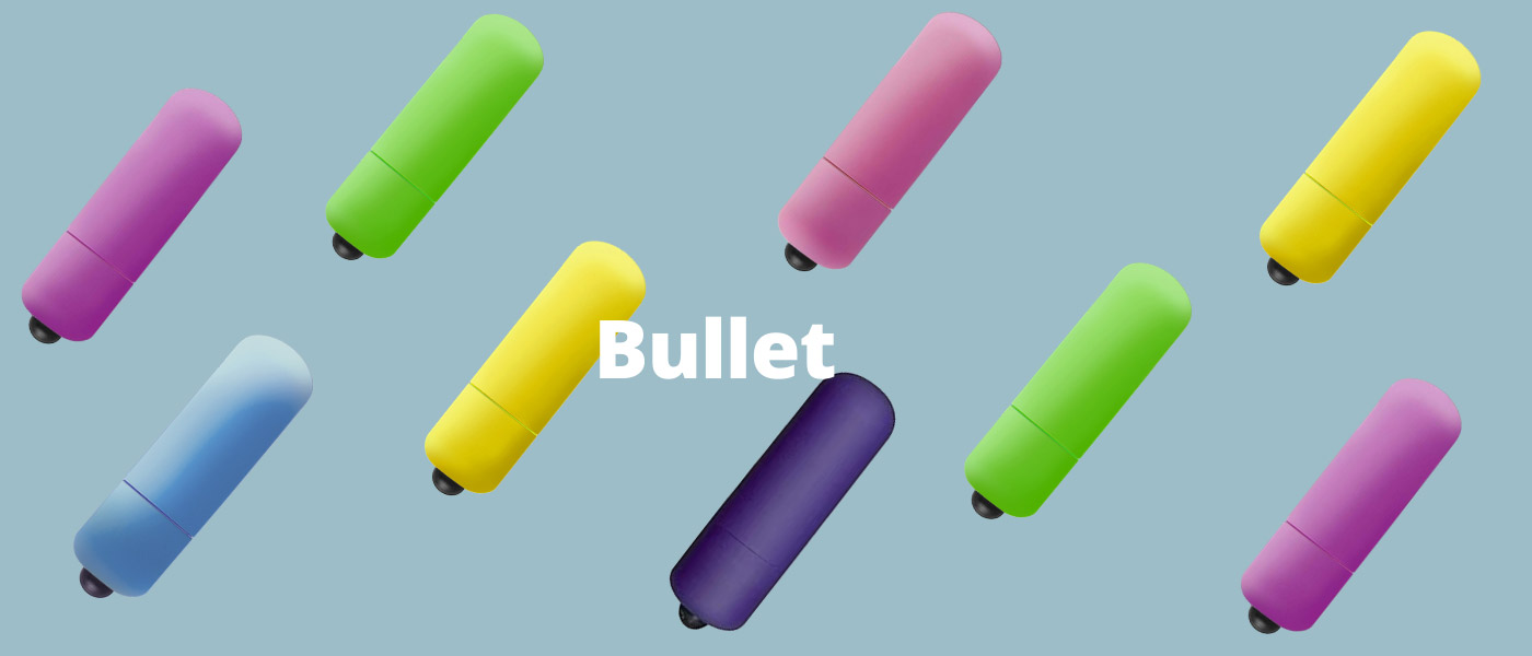 Mini vibrátor Bullet - explózia farieb