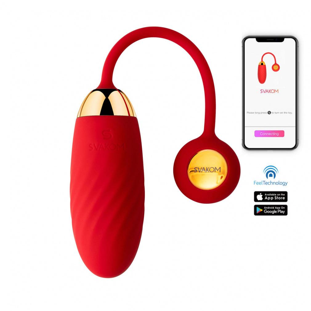 Vibračné vajíčko ovládané aplikáciou